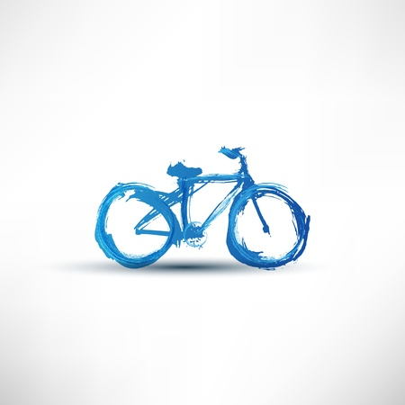 Bicycle painted with a brush Vector