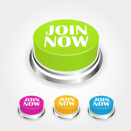 Join now button collection Vector