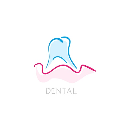 whiten: Dental icon. Illustration of teeth as icon