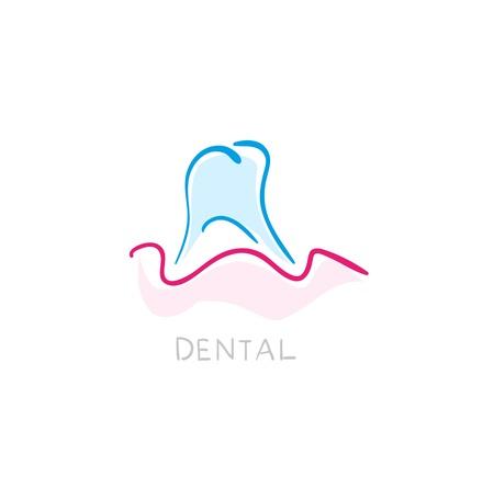 Icono de Odontología. Ilustración de los dientes como icono Ilustración de vector