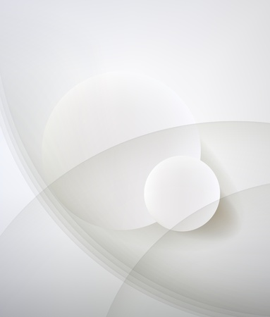 minimalist design: Abstract minimalist design in a light tone. Two circle. Illustration