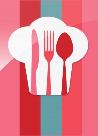soup spoon: restaurant menu retro affiche