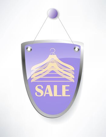 The shield, sale sign. Vector