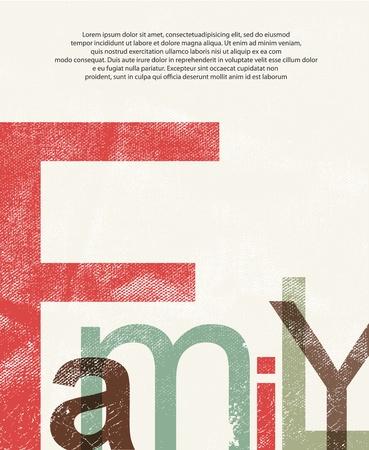 Alte Familie print background Standard-Bild - 14134481