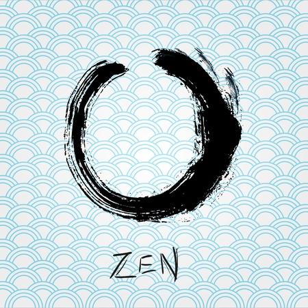 Zen calligraphy brushstroke circle. Oriental character. Stock Vector - 14134470