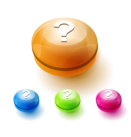 Question mark button Ilustração