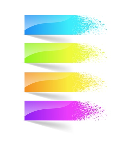 Colorful ink splash banner. Vector