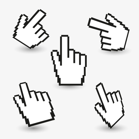 Hand cursors collection Stock Vector - 14276103