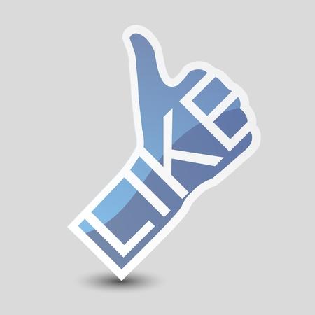 Like symbol. Thumb Up. Stock Vector - 14275955