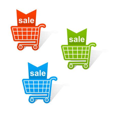Shopping basket labels.