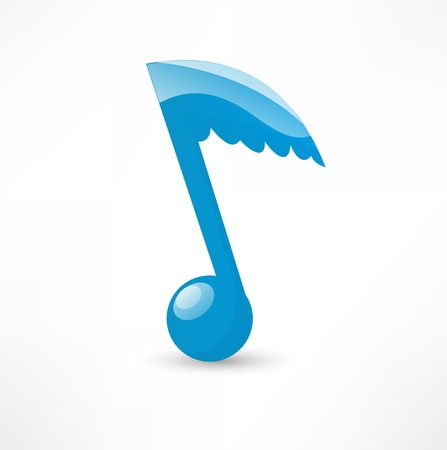 quavers: Blue musical note to the wing