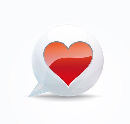 favourites: heart. speech bubble