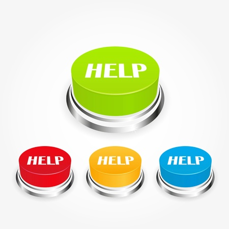 help button Stock Photo - 14275951
