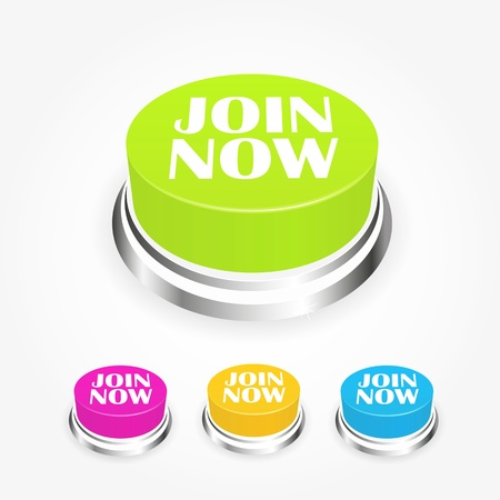website buttons: Join now button collection