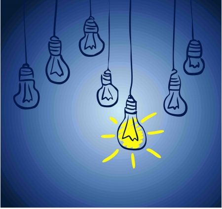 Innovative lamp   idea concept photo
