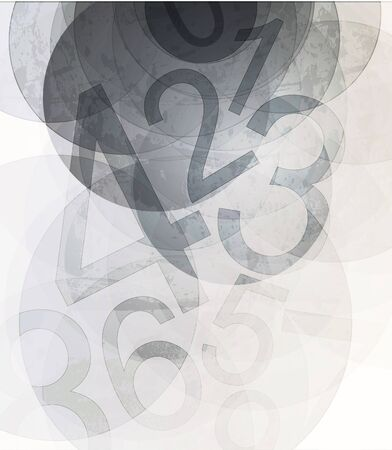 Compositions of colored number. abstract background Stock Photo