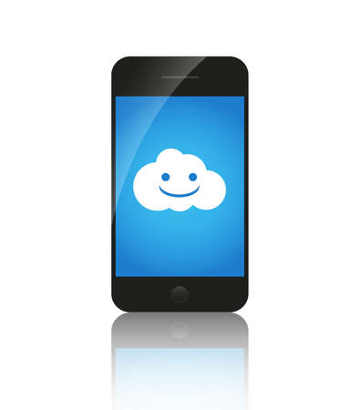 Cloud computing on mobile, Stock Photo - 14275818