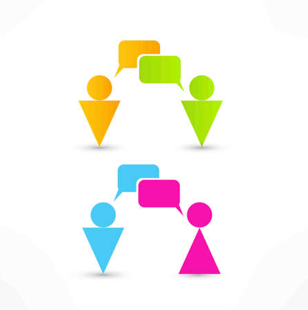 talking people icon Stock Photo - 14275591