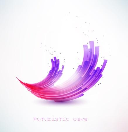 cosmo: futuristic wave sign Stock Photo