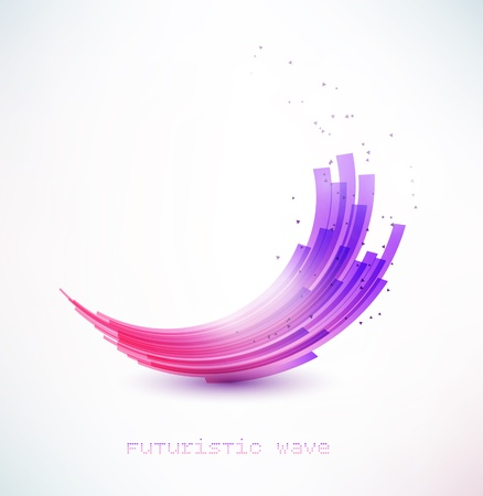 futuristic wave sign Stock Photo