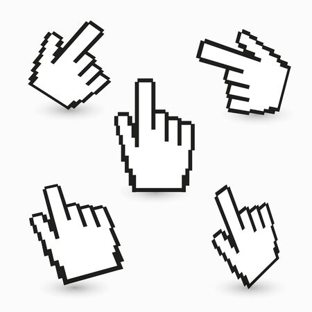 Hand cursors collection Stock Photo - 14275825