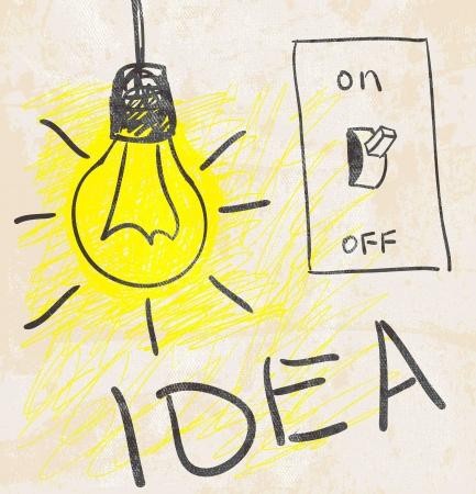 light switch: Innovative lamp.  idea concept