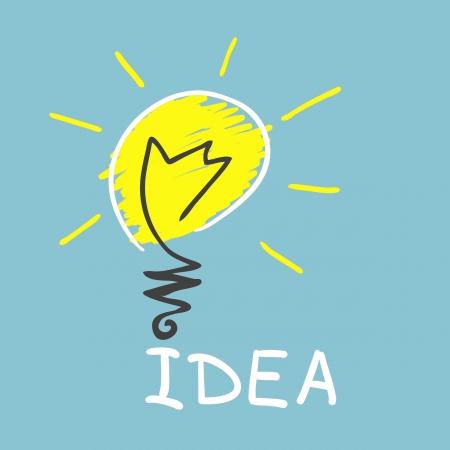 Innovative lamp.  idea concept