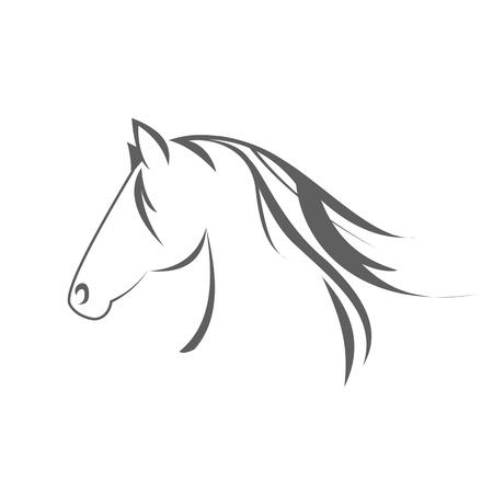 racehorse: Horse symbol Stock Photo