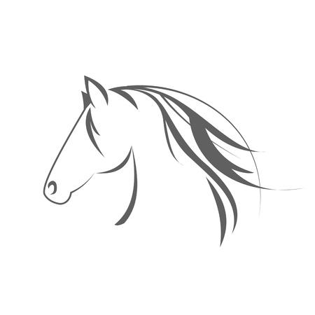 carreras de caballos: Caballo símbolo Foto de archivo