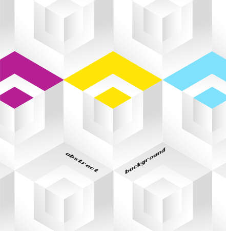 Abstract geometric background with isometric cubes. Book cover photo
