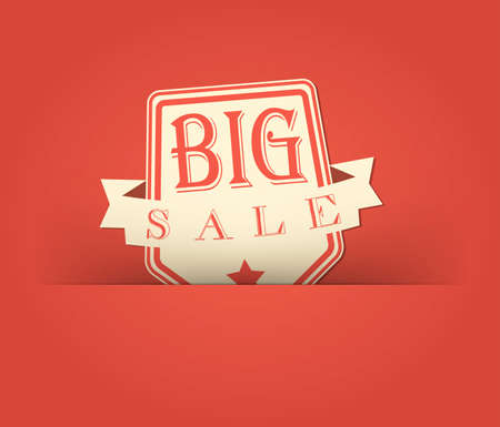 Big sale with retro vintage styled design photo