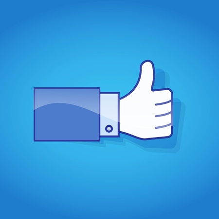 Thumb Up. Social media and network concept. Stock Photo - 14275932