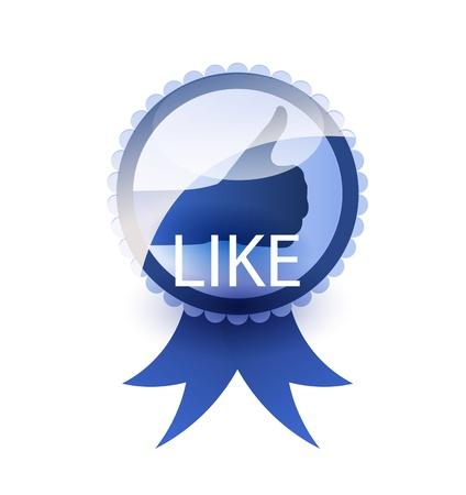 Social media label. Like concept. Stock Photo - 14275947