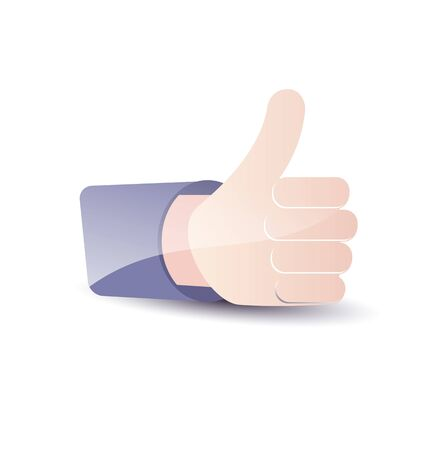 validate: Thumb Up. Social media and network concept. Stock Photo