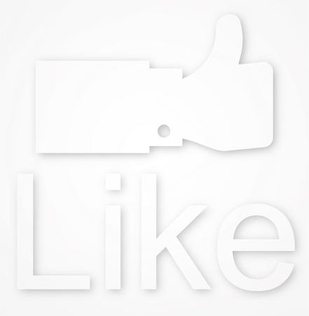 Like symbol on white background, Stock Photo - 14275867