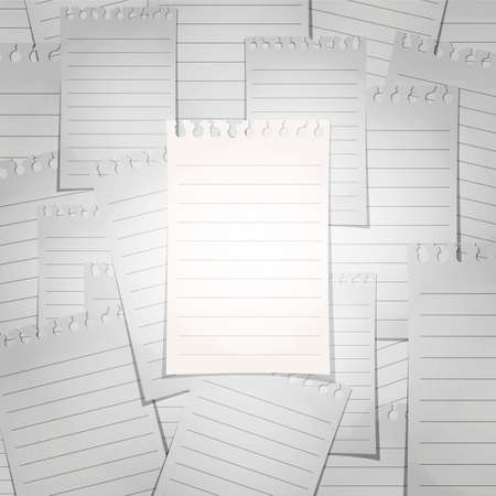 Spiral lined notepad sheet. The concept of separation from the crowd. photo