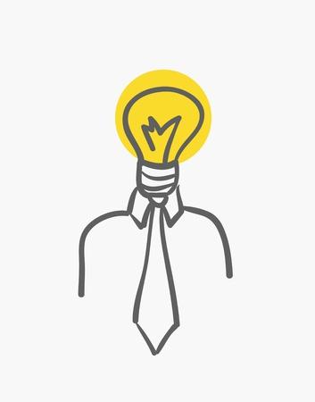 light bulb men Stock Photo - 14275639