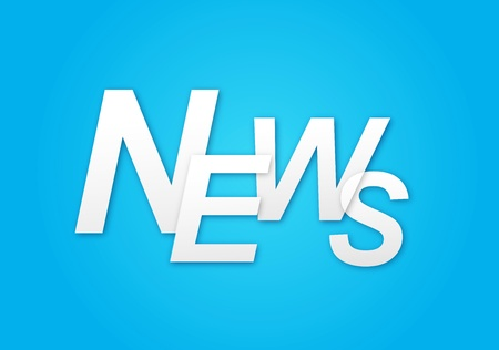 Blue background with the words News Stock Photo - 14275971