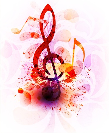 music: Abstract music background Stock Photo