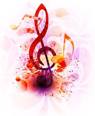 Abstracte achtergrond muziek Stockfoto