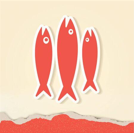herring: vintage retro fish