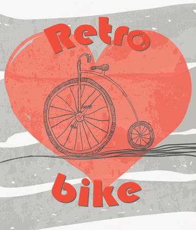 old retro bicycle grunge background photo