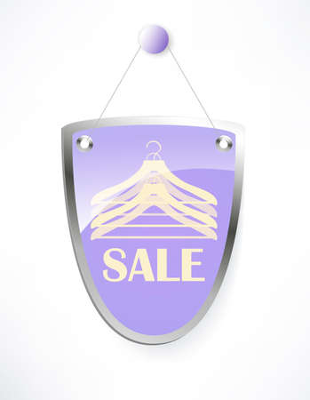 The shield, sale sign. photo