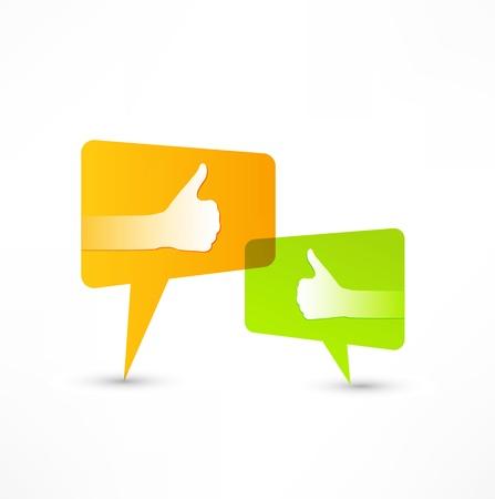 Social media bubble. Thumb Up. Stock Photo - 14275738