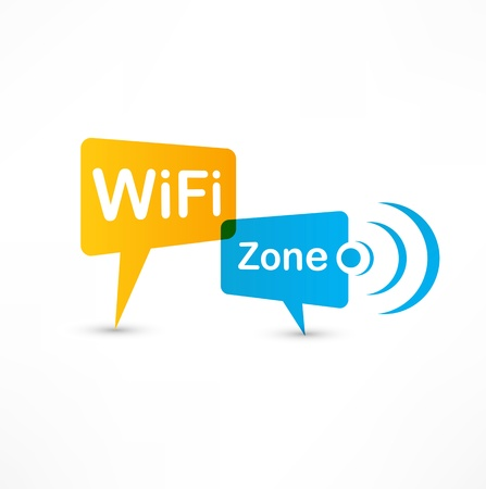 WiFi Zone speech bubbles Stock Photo