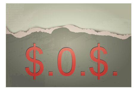SOS  The concept of Dollar photo