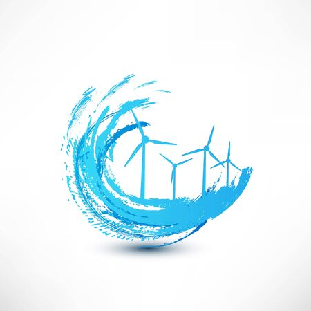 wind turbines concept photo