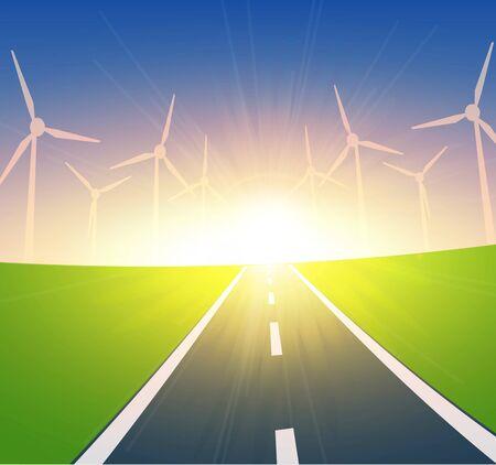climate changes: Wind Turbines Landscape