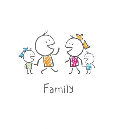 Family Stock Vector - 14579872