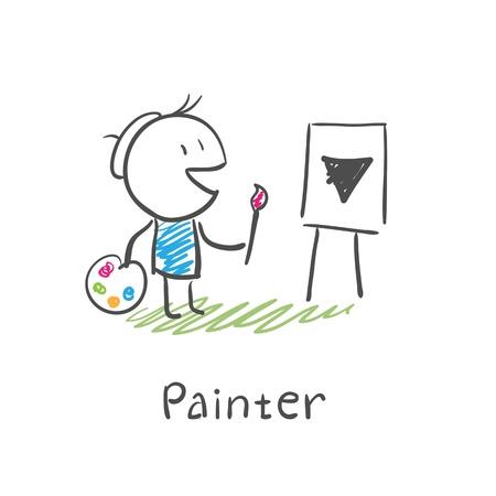 artisan: Painter artist Illustration